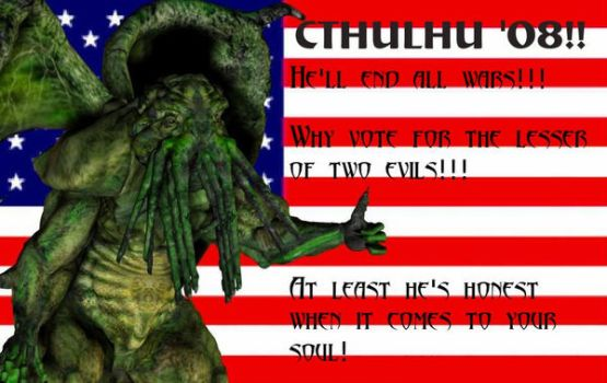 Vote for your elder god print by Lord-Typhon