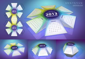 2013 Calendar Hexahedral PSD by cartonus