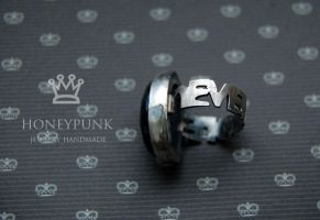 Ring NeverMore, silver sterling , petersite by honeypunk