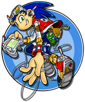 Sonic official human form by Blue-Frame