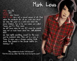 Mark Levis - Character Profile by Xiaoyu85ve
