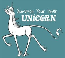 Summon your inner unicorn! by Pedantia