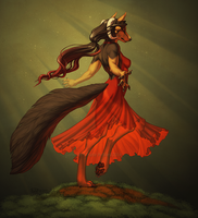 Dance of the Orange Blossom by Shadow-Wolf