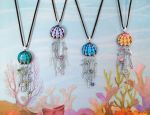 Sea Full of Jellyfish Pendants by poisons-sanity