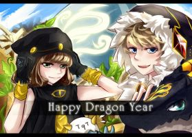 Happy Dragon Year by HZ-ink