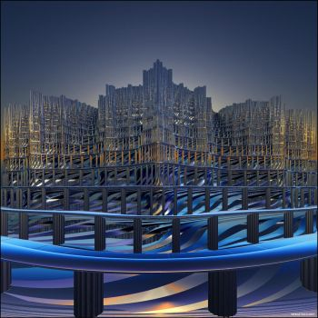 The Fractal Temple of New Age by Aexion