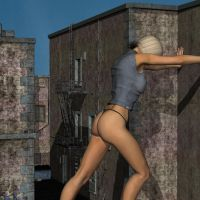 tall blonde in the alley 06 by runswithferrets