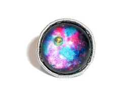 Galaxy ring/ bague Galaxy by glo0bule
