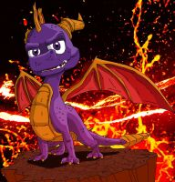 Spyro the Dragon. by TwistedFeverComics