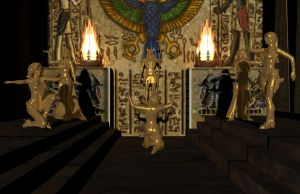 White Owl and Anubis Tomb. by ash5800940