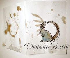 Tea Stain Rat Greeting Card by DumansArk