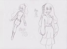 Matilda Age 15 and 22 WIP by kast43
