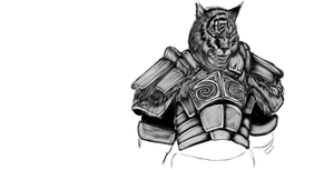 Khajiit warrior by IcenHeart