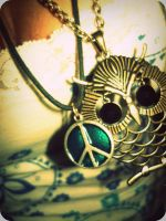 Owl Necklace by LilyPants