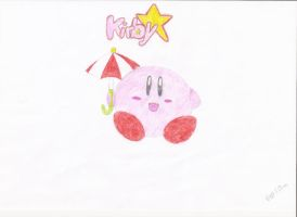 Kirby with umbrella by reoreoreo