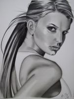 Jessica Simpson Portrait by golfiscool