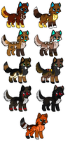Pups For thekittengavroche by Haaaze