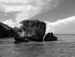 The Rocks 3 in Black and White by Sweetlittlejenny