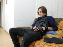 Leon S. Kennedy taking a rest... =P... by AndEinsam