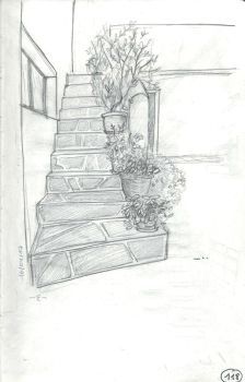 [Greece] Stairs and plants on Kithnos Island by EpsilonEridani