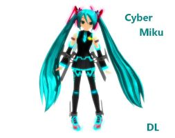 MMD Cyber Miku animaro DL by xXNaku