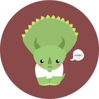 Triceratops fashionable by tatYalonsO