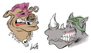 Rocksteady and Bebop by luismario