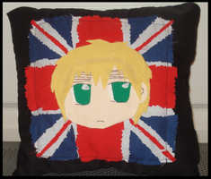 Chibi England Pillow by Mretie