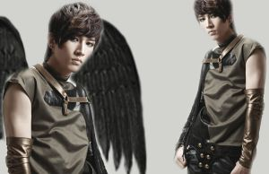 UKISS Kiseop Black Angel WP by YseulTristan