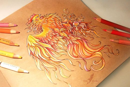 Fire rooster by AlviaAlcedo