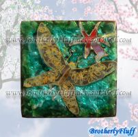 Cloisonne enameling dragonfly by BrotherlyFluff