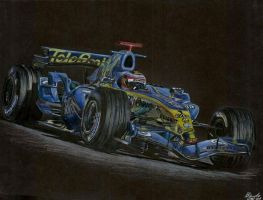 Fernando Alonso Renault by MillyIsDreaming