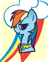 Pony Portraits: Daring Rainbow Dash by LaurenBam