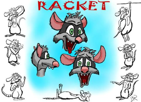 Racket Model Sheet by RaccoonRat