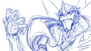 TFP Screamer sketch ugh by BLACK-HEART-SPIRAL