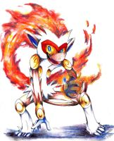 Pkmn Fan Art: Infernape by Andgofortheroll-123