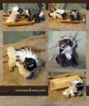 Chickadee and Great Horned Owl Gryphon Kittens by WormsandBones
