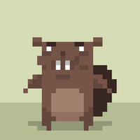 A fully rendered pixelbeaver by Olsonmabob