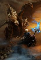 Death Vs  Dragon by bobgreyvenstein