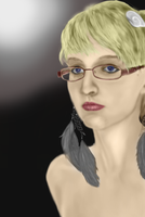 First Photoshop Self Portrait Ever by Mokona4532