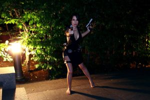 Tomb Raider Lara Croft ripped dress - shot by TanyaCroft