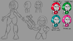 Robot Girl Sketches (Old Concept) by Sconimate-99