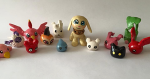 Digimon Babies by AmethystCreatures