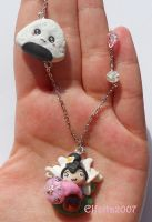 Necklace with Mulan of Disney Cartoon by Elfetta2007