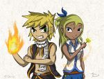 Link Dragneel and Tetra Heartfelia by Fenz-art
