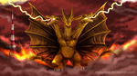 Comm: King Ghidorah by Natsuakai