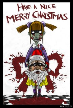 Zombie Merry Christmas 2010 by 3Dx2Y