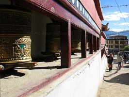 Tibetan Prayer Wheel by Tul-152