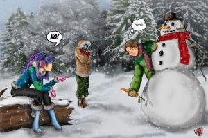 Ella-VS-Inappropriate Snowman by WiL-Woods