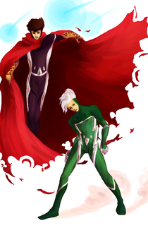 Apprentice Wiccan and Speedster Speed by mintycrab